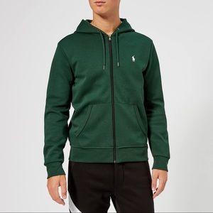 Polo Ralph Lauren Men's Green Zip Up Hoodie